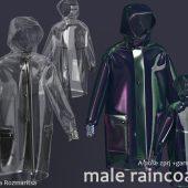 Male raincoat